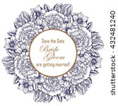 vintage delicate invitation... | Shutterstock .eps vector #432481240