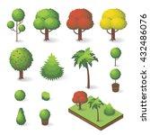 vector set of isometric various ... | Shutterstock .eps vector #432486076