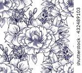 abstract elegance seamless... | Shutterstock .eps vector #432489103