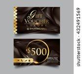gift voucher luxury vector... | Shutterstock .eps vector #432491569
