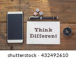 think different words written... | Shutterstock . vector #432492610
