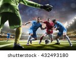 soccer players in action on... | Shutterstock . vector #432493180