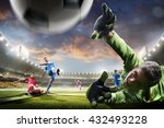 soccer players in action on... | Shutterstock . vector #432493228