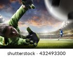 soccer players in action on... | Shutterstock . vector #432493300