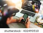photo website graphic designer... | Shutterstock . vector #432493510