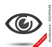 eye icon. flat logo of eye... | Shutterstock .eps vector #432495658