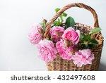 Basket Pink Dog Rose Canina...
