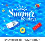 hand drawn summer word... | Shutterstock .eps vector #432498874