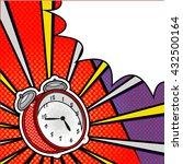 bright pop art explosion over... | Shutterstock . vector #432500164