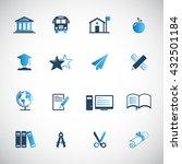 education icon set | Shutterstock .eps vector #432501184