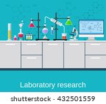 chemical laboratory science and ... | Shutterstock .eps vector #432501559