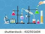 medical laboratory. research ... | Shutterstock .eps vector #432501604