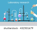 chemists scientists equipment.... | Shutterstock .eps vector #432501679