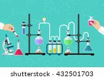 medical laboratory. research ... | Shutterstock .eps vector #432501703