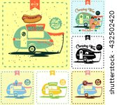 six different detailed retro... | Shutterstock .eps vector #432502420