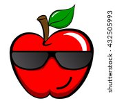 cool apple emoticon emoji. cool ... | Shutterstock .eps vector #432505993