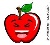 apple emoticon emoji. happy ... | Shutterstock .eps vector #432506014