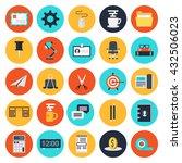 modern flat icons vector... | Shutterstock .eps vector #432506023