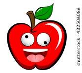 apple emoticon emoji. happy ...   Shutterstock .eps vector #432506086