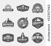 set of brewery labels  badges... | Shutterstock .eps vector #432507463