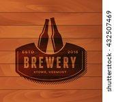 vintage brewery badge. beer... | Shutterstock .eps vector #432507469
