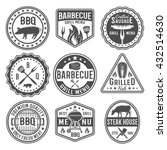 barbecue black white emblems... | Shutterstock .eps vector #432514630