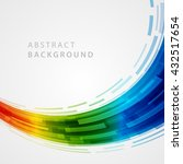 abstract geometric lines vector ... | Shutterstock .eps vector #432517654