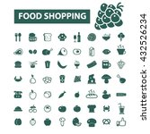 food shopping icons    Shutterstock .eps vector #432526234