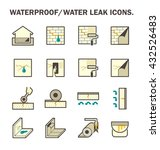 waterproofing and water leaked... | Shutterstock .eps vector #432526483