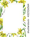 daffodils and green grass and... | Shutterstock . vector #432526564