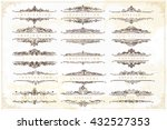 collection of vintage... | Shutterstock .eps vector #432527353