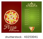 pizza menu template  vector... | Shutterstock .eps vector #43253041