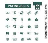 paying bills icons  | Shutterstock .eps vector #432531598