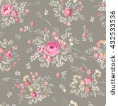 seamless floral pattern with... | Shutterstock .eps vector #432533536