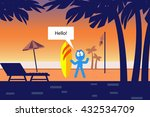surfer on the beach | Shutterstock .eps vector #432534709