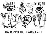 hand drawn ink summer design... | Shutterstock .eps vector #432535294
