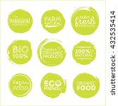 green eco food labels. health... | Shutterstock .eps vector #432535414