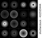 radar screen concentric circle... | Shutterstock .eps vector #432535444