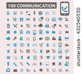 communication icons  | Shutterstock .eps vector #432540550