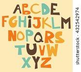 cute funny childish alphabet.... | Shutterstock .eps vector #432542974