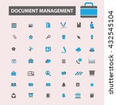 document management icons  | Shutterstock .eps vector #432545104