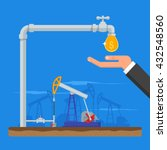 transform oil to money concept. ... | Shutterstock .eps vector #432548560