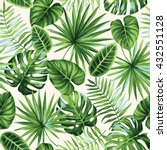 tropical seamless pattern with... | Shutterstock .eps vector #432551128