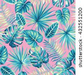 tropical seamless pattern with... | Shutterstock .eps vector #432551200