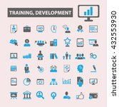 training development icons  | Shutterstock .eps vector #432553930