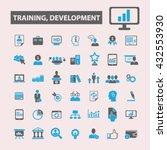 training development icons  | Shutterstock .eps vector #432553930