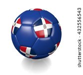 3d rendering of a football... | Shutterstock . vector #432556543