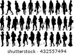 set of 35 vector's silhouettes...