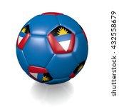 3d rendering of a football... | Shutterstock . vector #432558679