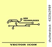 new technologies icon. circuit... | Shutterstock .eps vector #432563989